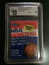 1986 FLEER 86-87 BASKETBALL SEALED PACK POSSIBLE PSA 10 MICHAEL JORDAN RC GAI 9