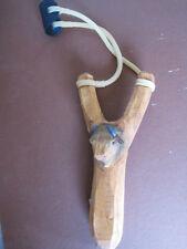 Hand carved wooden Buffalo slingshot