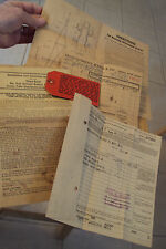 "Lot of Vintage 1937 ""ALLIED RADIO CORP""~Directions/Instructions/Receipt~"