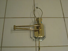 Mid Century Modern Lucite & Brass Swing Arm Wall Sconce Lamp Springer Era