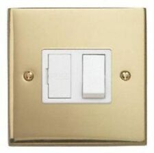 VICTORIAN STYLE SWITCH SOCKET CONNECTION UNIT 13A - POLISHED BRASS FINISH - NEW