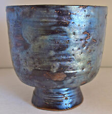 "Exquisite BEATRICE WOOD ""Beato"" Pottery Pedestal Bowl"