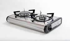 NEW MINI-S Gas Stove Cooker 2 burner Portable Camp Indoor Caravan LPG/NG 4.6kW