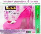 Pink Scotch 3M Stiletto High Heel Shoe Scotch Dispenser +3 Magic Tapes FREE NEW