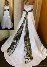 Hot Sale Camo Ball Gown Wedding Dresses Camouflage Beaded Appliques Bridal Gowns