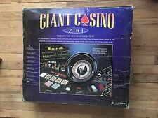 Excaliber Giant Casino 7 In 1 Game Set, extra game felts included