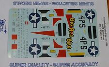 Microscale Decal 1:48 Scale #48-1080 / P-47D Bubbletop 513th FS/406th FG