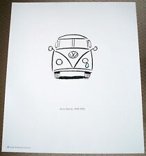 Vintage Jerry Garcia Grateful Dead VW Volkswagen Rock Music Memorabilia Art AD
