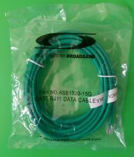 (NEW) 15 FT CAT5 GREEN RJ11-RJ11 6P4C Data (Telephone) Cable  #ASB1320-15G