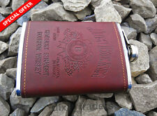 imported design jim beam faux leather hip flask best for gift