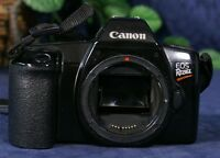 Used Canon Black EOS Rebel G 35mm SLR Film Camera Body with 35-80 mm EF Zoom