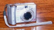 **FOR PARTS** Canon PowerShot (A75) 3.2 MP Silver Digital Camera w/ Wrist Strap