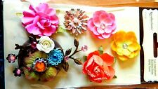 NEW Recollections Signature Adhesive FLOWER  Embellishments W GOLD AMULET