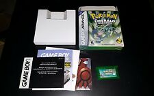 Pokemon: Emerald Version CIB COMPLETE SAVES BOX GBA Nintendo Game Boy Advance