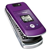 Motorola W755 Flip Cell Phone VERIZON Bluetooth Speakerphone Camera ~Purple~