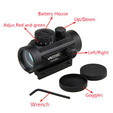 Tactical Hunting Reflex Green/Red Laser Dot Sight Scope Rail Mount For Rifle Gun
