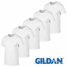White 3 5 10 Pack Mens Blank Gildan Plain Cotton Tshirt T Shirt Tee Top Lot New