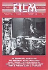JULIEN TEMPLE / GLENDON SWARTHOUT Monthly Film Bulletin Aug 1984