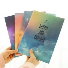 """Dreamland"" Pack of 4 Lined Notebook Study Planner Diary Journal Workbook Memo"