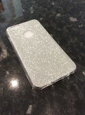 iPhone 6 6s Mobile Phone Soft Gel Ultra Thin Silver Glitter Case Protective Xmas