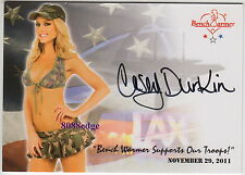 2011 BENCHWARMER SUPPORT OUR TROOPS PROMO AUTO: CASEY DURKIN - AUTOGRAPH MISS LA