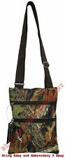 Camo Messenger Passport Bag Hipster Crossbody Purse Tote Mossy Oak Pattern