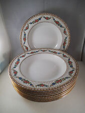 Vintage Lot of 10 Booths Silicon China Rim Soup Bowls Flower Garland England