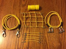 YELLOW/ Scale Roof Cargo Net + 2 Tow Ropes + 6 Bungee Cords + Sleeping Bag
