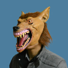 FUNNY LATEX WEREWOLF WOLF MASK HORROR HALLOWEEN SCARY FANCY DRESS COSTUME ADULT