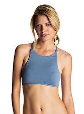 Roxy Strappy Love Crop Captains Blue Bikini Top Small  ERJX303369