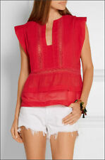ICONIC GORGEOUS 2DIE4 ISABEL MARANT RODGE red cotton dress blouse