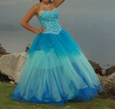 Quinceanera Formal Prom Party Ball Gown Evening Dress size 10