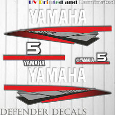 Yamaha 5 HP Two 2 Stroke outboard engine decal sticker kit reproduction 5HP