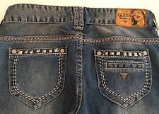 Authentic Guess Daredevil  Skinny Leg Stretch Women Jeans Sz 27 X 31.5 EUC
