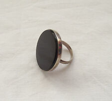 Stunning Silver Ring with Large Stone UK O US 7.5