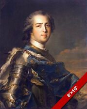 KING LOUIS XV OF BOURBON FRANCE PORTRAIT PAINTING HISTORY ART REAL CANVAS PRINT