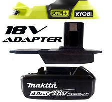 Makita Cordless Rotary Hammer Drill Battery Adapter to Ryobi 18v One+ Tools