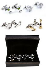 Waiter Bartender Sommelier Bar Party 4 Pairs of Cufflinks Wedding Fancy Gift Box