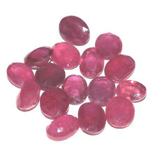 54 cts Natural Pink Red Ruby Oval Cut Gemstone Wholesale Lot #hru01