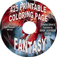 400+ FANTASY COLORING PAGES FOR ALL AGES - COLORING PAGES ON CD - PDF FORMAT