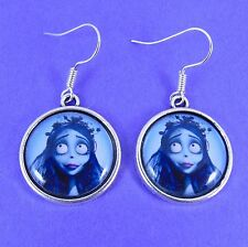 CORPSE BRIDE EARRINGS tim burton victor emily goth scene punk zombie skeleton