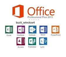 Microsoft Office 2013 Professional Plus 32/64 Bits Download Product Key (1PC)