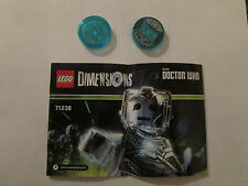 LEGO dimensions Doctor Who fun pack Cyberman discs only 71238