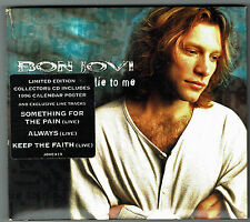 "BON JOVI - 5"" CD - Lie To Me (4 Track) Limited Edition + Poster.  Mercury"