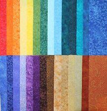 """BASIC BLENDER FABRICS - Rainbow of Tone on Tone Blenders - Large 8.5"""" Squares"""