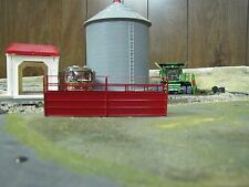 1/64 Custom Scratch-Cast Cattle Long Alley - Red