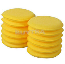 12X WAXING POLISH WAX FOAM SPONGE APPLICATOR PADS CARS VEHICLE GLASS HIUK