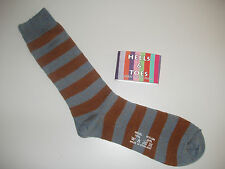 Winter Mens Merino Wool Marl Striped/Stripe Socks Brown/Blue Marl Size 6-11UK