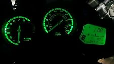 GREEN YAMAHA FJR 1300 2003-2005 led dash clock conversion kit lightenUPgrade