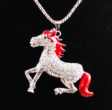 New fashion beautiful  Plating 14 k horse necklace Christmas gift k306